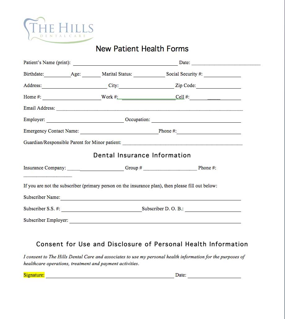 new-patient the hills dental care st louis hills dentist
